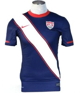 Nike Dri Fit US Soccer Team Red White & Blue Short Sleeve Jersey Mens NWT