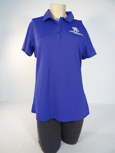 Under Armour Freedom Wounded Warrior Blue Short Sleeve Polo Shirt Womans NWT
