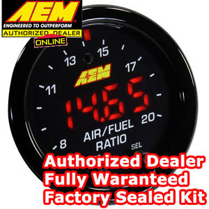 AEM 30-0300 X-Series Wideband Gauge AFR O2 UEGO Air Fuel Ratio 2 116