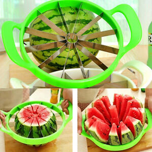 New Fruit Watermelon Melon Cantaloupe Stainless Steel Cutter Slicer Kitchen Tool
