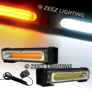 20W Amber&White COB LED Emergency Hazard Warning Flash Strobe Beacon Light Ba#15
