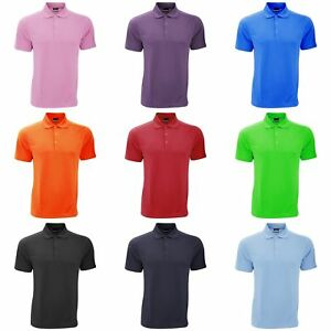 Nike Mens Dry-Fit Sports Plain Short Sleeve Polo Shirt T-Shirt Top Sizes S-2XL