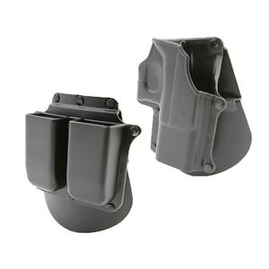 Retention Roto Holster for Glock 19/23/25/28/32 With Double Magazine Pouch 9/40