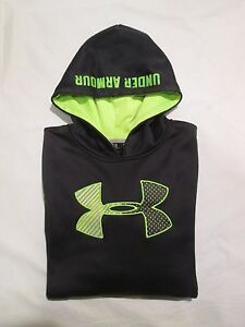 (*-*) UNDER ARMOUR * STORM Girls BLACK Hoodie  Sweatshirt Youth * Size YLG