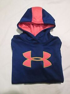 (*-*) UNDER ARMOUR * Girls BLUE  PINK Hoodie  Sweatshirt Youth * Size YSM