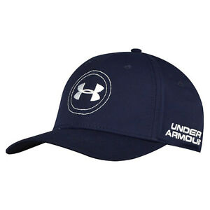 NEW Under Armour Golf Jordan Spieth Hat Navy Blue White Fitted OSFA