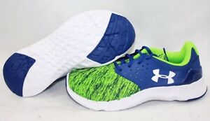 NEW Boys Girls UNDER ARMOUR UA BPS Flow RN Twist Blue Green Sneakers Shoes
