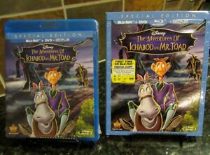 The Adventures of Ichabod and Mr.Toad Blu ray DVD 2014 2 Disc Set Digital HD $9.99