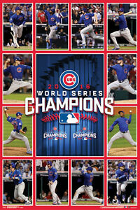 Chicago Cubs 2016 WORLD SERIES CHAMPS GAME 7 HEROES Commemorative Wall POSTER $22.49