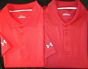 NEW MENS UNDER ARMOUR SS ZONE COLORBLOCK POLO GOLF SHIRTPICK SIZE