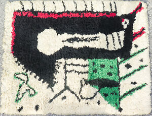 Vintage RARE Classic French Rug Design by Picasso