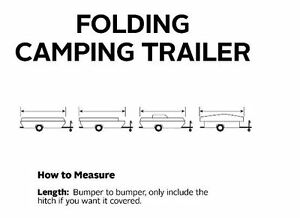 PolyPro Folding Pop Up Camping Trailer RV Cover — Fits 8 FT 10 FT RV#x27;S