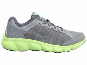 Boy's Youth UNDER ARMOUR MICRO G ASSERT 6 1266318 Gray Running Casual Shoes New