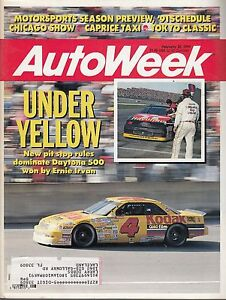 Autoweek Feb 25 1991 Under Yellow New Pit Stop Rules 201 $5.50