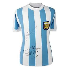 Lionel Messi & Diego Maradona Front Signed Argentina Shirt Autograph Jersey