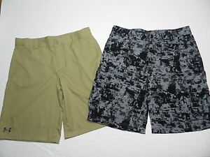 BOYS lot of 2 pairs SHORTS  = UNDER ARMOUR = SIZE YXL youth XL = cs48