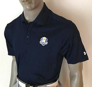 (RYD-UANVY) 2016 Under Armour UA US Ryder Cup Polo Golf Shirt (Navy)