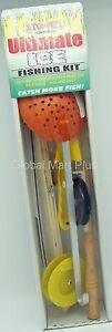 Ultimate Ice Fishing Kit All Equipment Just Add Bait K & E Stopper Lures FKW-CFK