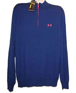 Under Armour Blue Men's Wool Sweater Shirt Size 2XL  NEW