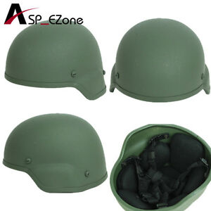 Airsoft Tactical Military MICH 2000 Glass Fiber Helmet Olive Drab