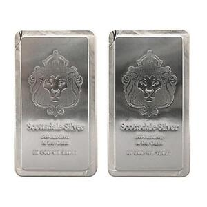 2x 10 oz .999 Silver Scottsdale STACKER® Silver Bars #A248