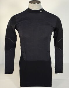 Men's Nike Pro Combat Pro Flex HyperWarm Black Long Sleeve Compression Shirt