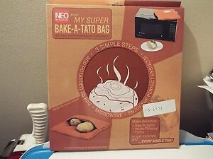 MY SUPER BAKE A TATO BAG microwave a perfectly baked potato in just minutes