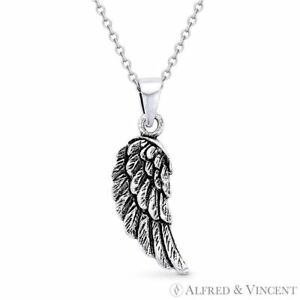 Angel's / Eagle Wing Antique-Finish 925 Sterling Silver Charm Pendant