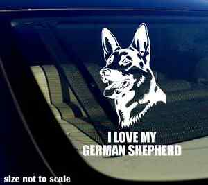 I love my German Shepherd Decal Sticker GSD Car Window Bumper 5.5quot; Inches