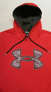 UNDER ARMOUR MEN'S RED STORM GIANT CAMO LOGO HOODIE --- SIZE L