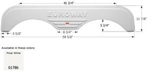 Fleetwood Tandem RV Fender Skirt FS1786, Polar White