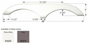 Pilgrim Tandem RV Fender Skirt FS770, Polar White
