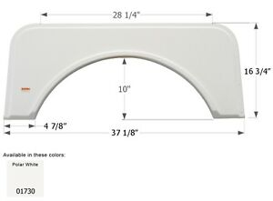 Kit Single RV Fender Skirt FS1730, Polar White