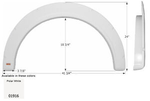 Fleetwood Single RV Fender Skirt FS1916, Polar White