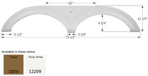 Keystone Tandem RV Fender Skirt FS2035, Polar White