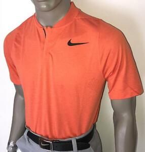 (829) 2017 SP TW Nike Dry Cotton Blade Men's Standard Fit Golf Polo $90-Lt Orng
