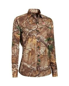 Under Armour Performance CAMO SemiFitted Field Shirt RealTree Pink Camouflage XL