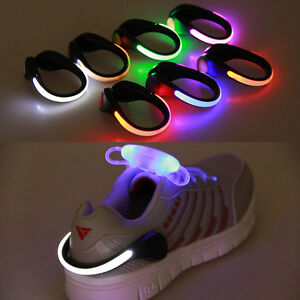 100 pcs safety LED Night Clip Luminous Shoes Light Running Cycling wholesale