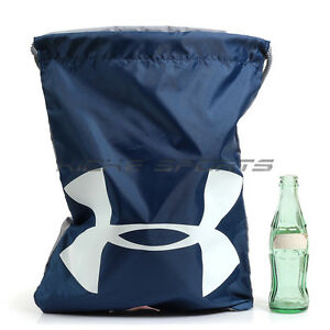 Under Armour UA Ozsee Sackpack Shoe Bag NavyWhiteGrey 1240539-997 Sportstyle