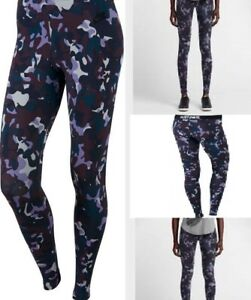 NIKE Leg A See Women's Printed Leggings Pants PURPLE CAMO SIZE SMALL NEW WTAGS