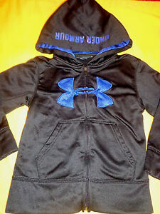 UNDER ARMOUR TODDLER BOY JACKETHOODIE 4 BLACKBLUE COLOR