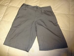 Boys Youth Under Armour Golf Shorts gray YSM Small size 8 flat front