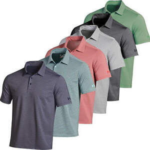 Under Armour Kirkby Heathered Stripe Golf Shirt Polo Mens New Choose ColorSize