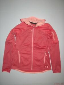 New Under Armour Womens UA Fitted Reactor Fleece Full zip Hoodie Small