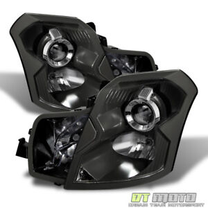 Black 2003 2007 Cadillac CTS Projector Headlights Replacement 03 07 LeftRight $158.99