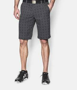New Under Armour Mens UA Scatter Golf Fuller Cut Stretch Breathable Shorts Sz 38