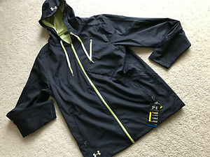 NWT NEW UNDER ARMOUR SURF black hoodie top zipper COLDGEAR LOOSE FIT XL XLARGE