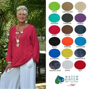WATERSISTER Cotton Gauze  PATCH TUNIC Panel Top 1(SM) 2(ML) 3(XL) 2018 COLORS