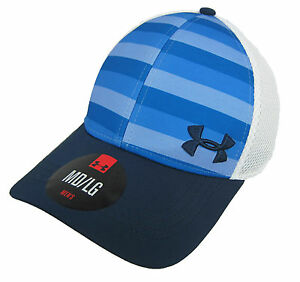 Under Armour Fitted Size MDLG Hat Cap UA Golf Mesh Back NWT