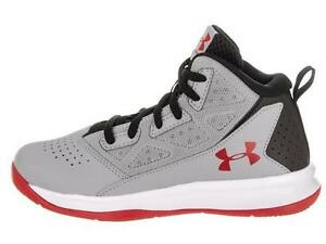 Boy's Youth UNDER ARMOUR JET 1274068 Gray Athletic Basketball Casual Shoes NEW